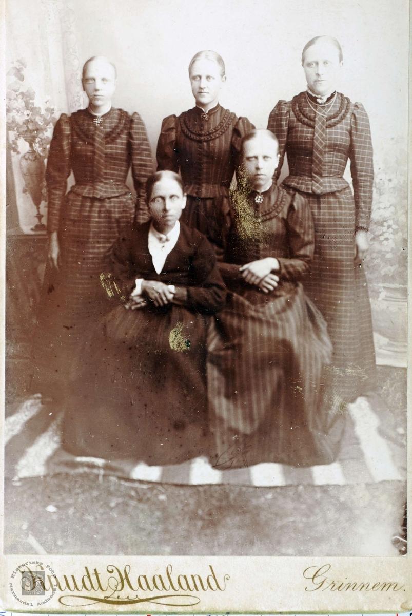 Familien Høyland. Grindheim Audnedal.