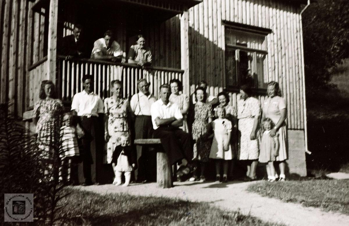 Slekt og venner i Vollen Austre Sveindal. Grindheim Audnedal.