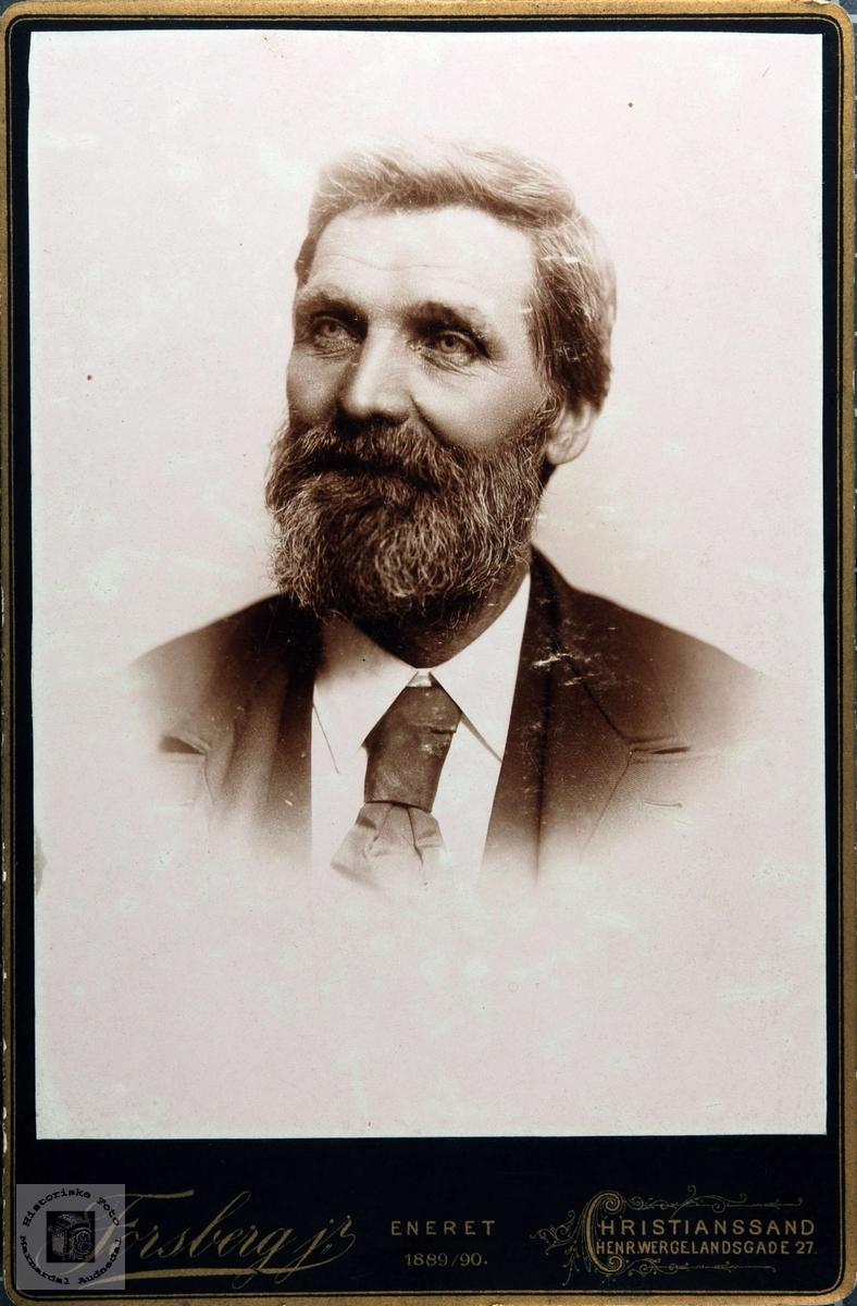 Portrett av John Bentsen. Audnedal.