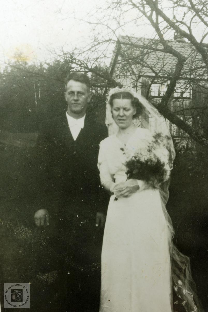Brudeparet Hårtveit. Grindheim.