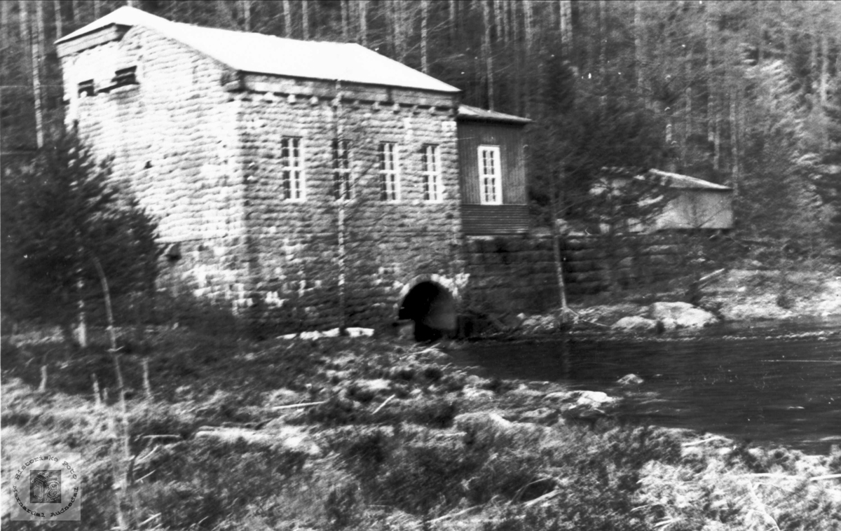 Tungefoss kraftstasjon, Bjelland.