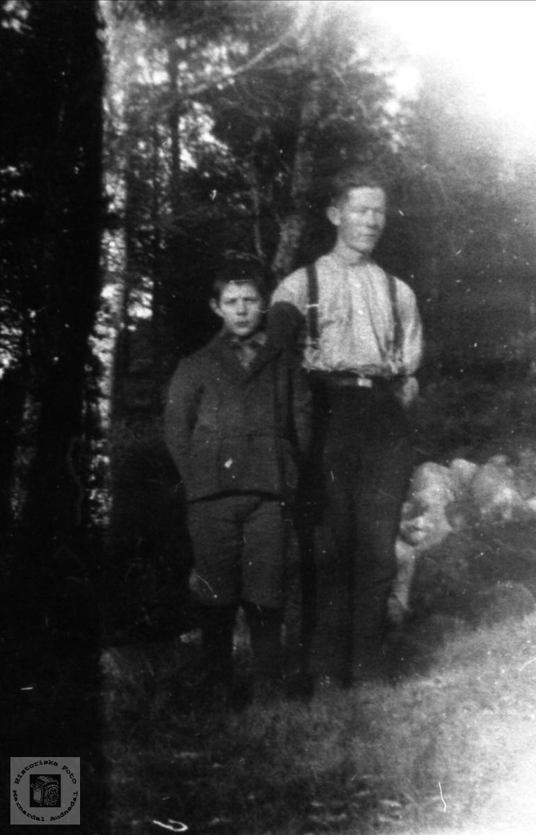 Portrett John Kristian og Torkel Hjemlestad, Bjelland.