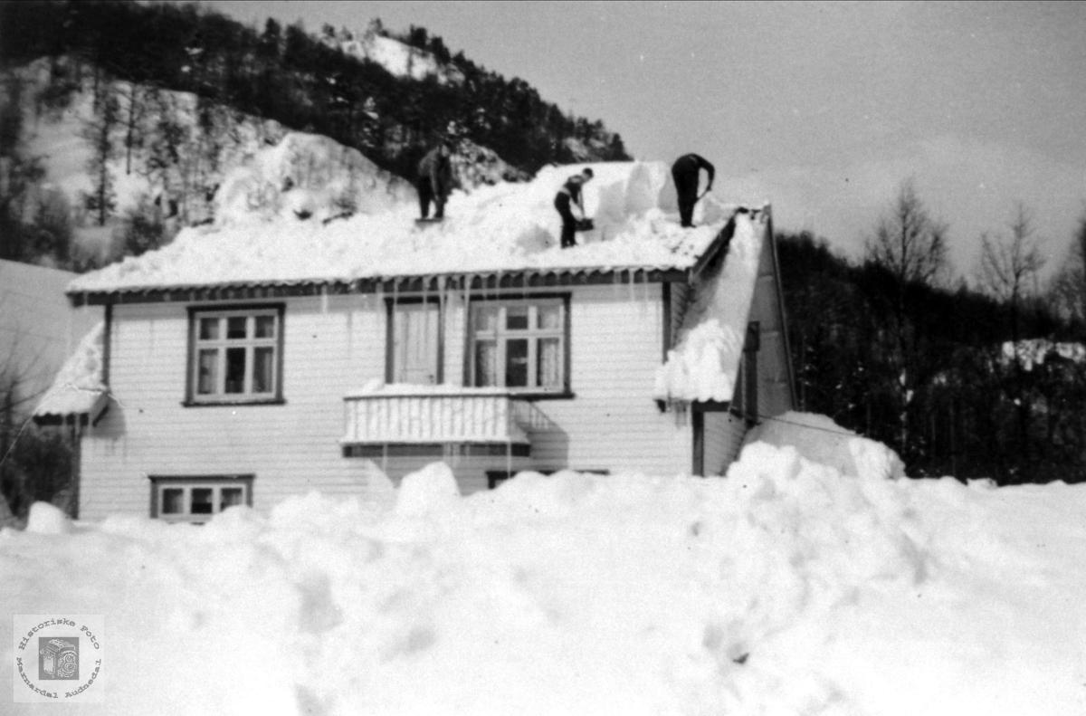 Snøvinter i Voan, Øyslebø.