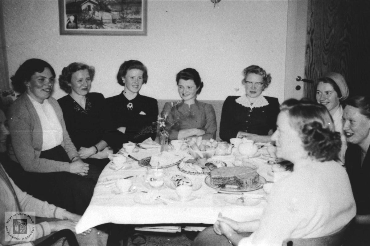 Dameklubb Øyslebø, Åsland, Sveinall, Skjævesland, Heddeland, Haus, Liestøl, Rustad og Bruskeland.