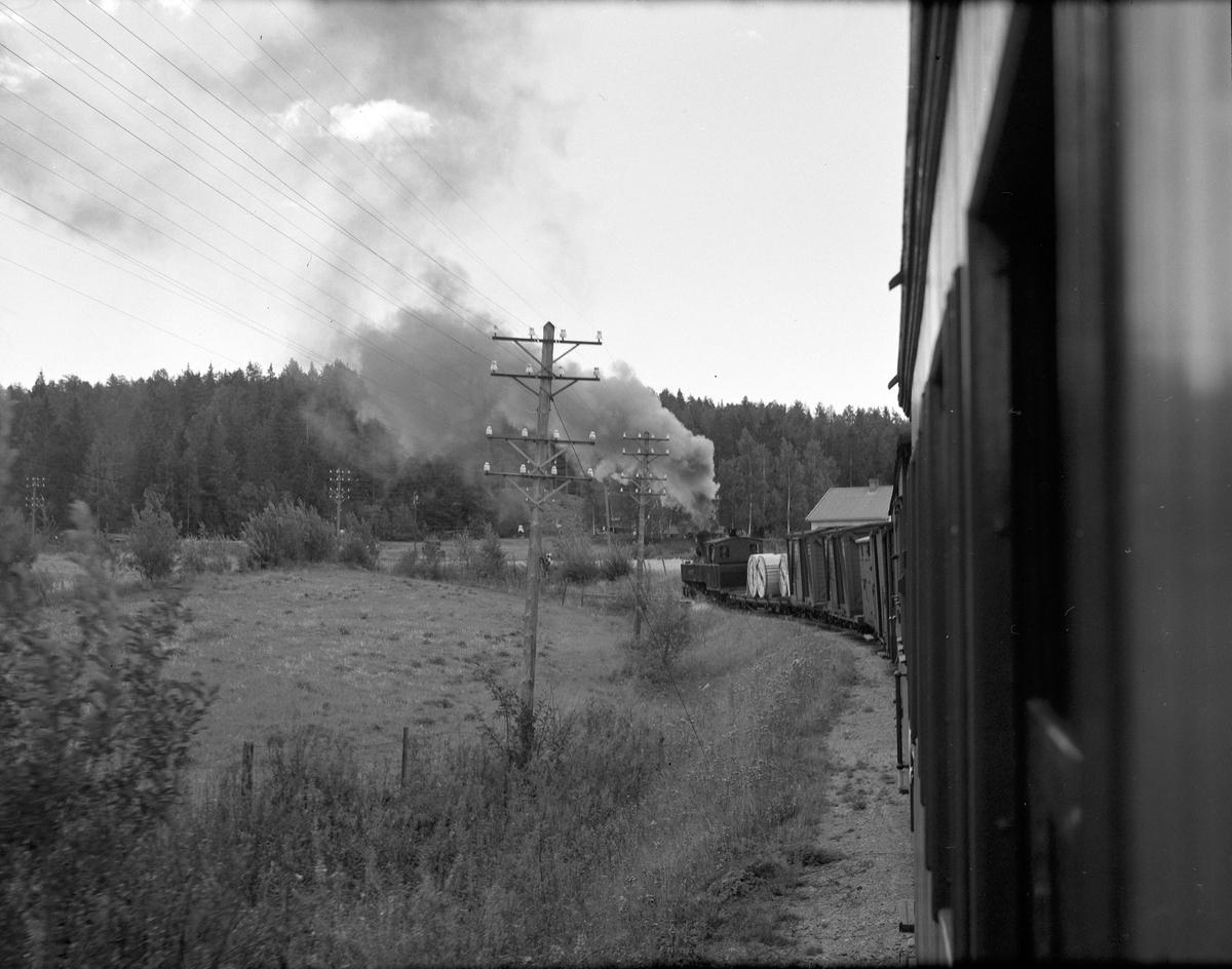 Lok 4 Setskogen underveis med tog retning Skulerud.