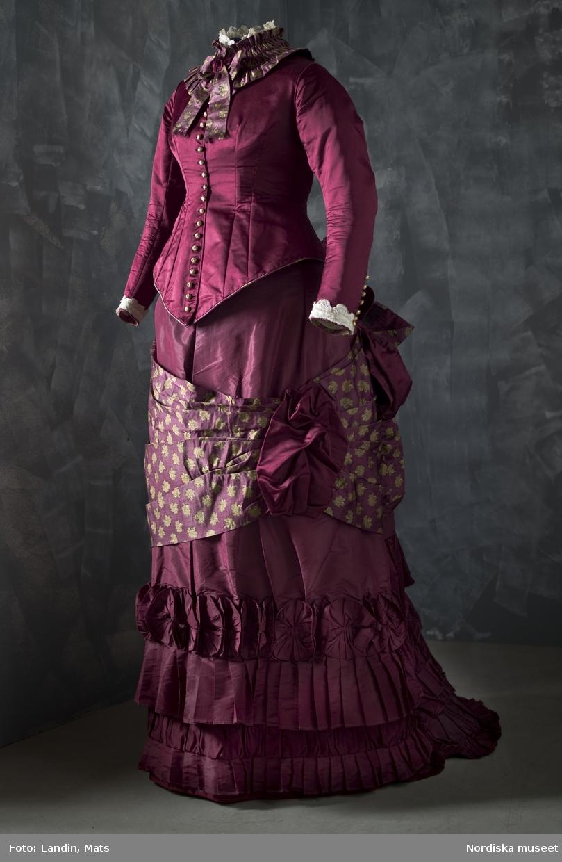 Turnyrklänning, kvinnlig dräkt, Göteborg. Sömmerska, 1876