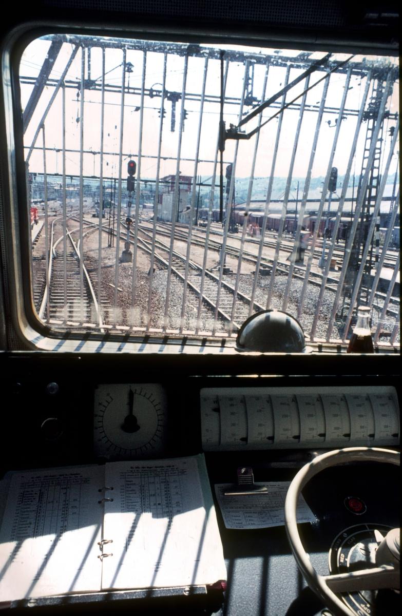 Interiør El 14 i tog 601 (Oslo Ø - Bergen).