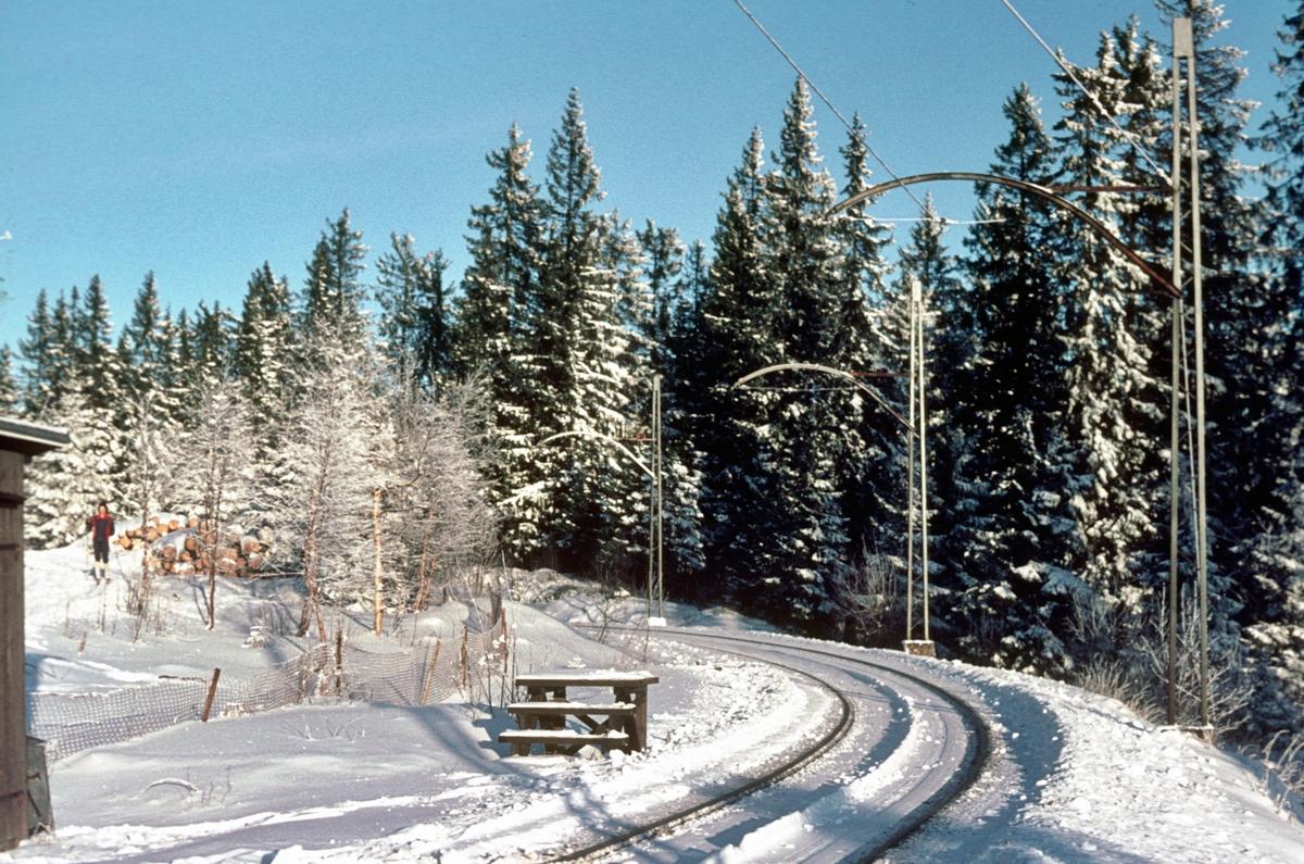 A/S Holmenkolbanen. Tryvannsbanen. Frognerseteren, enkeltsporet videre.