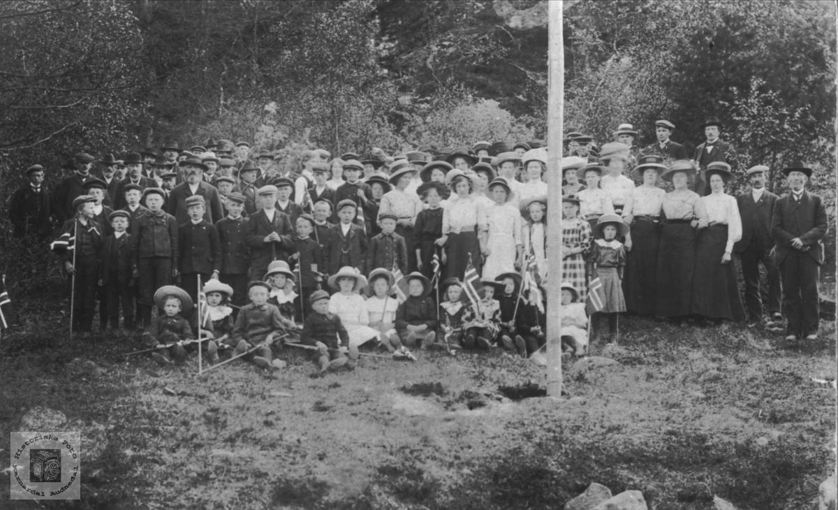 17.mai på Breland 1913