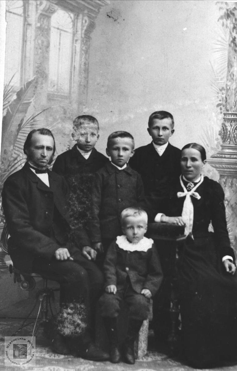 Familiebilde av familien Breland