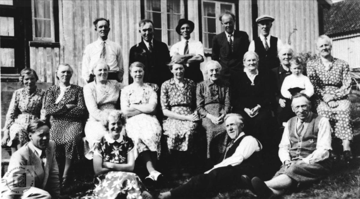 Familiesamling på Anna Abelseths 80 års dag