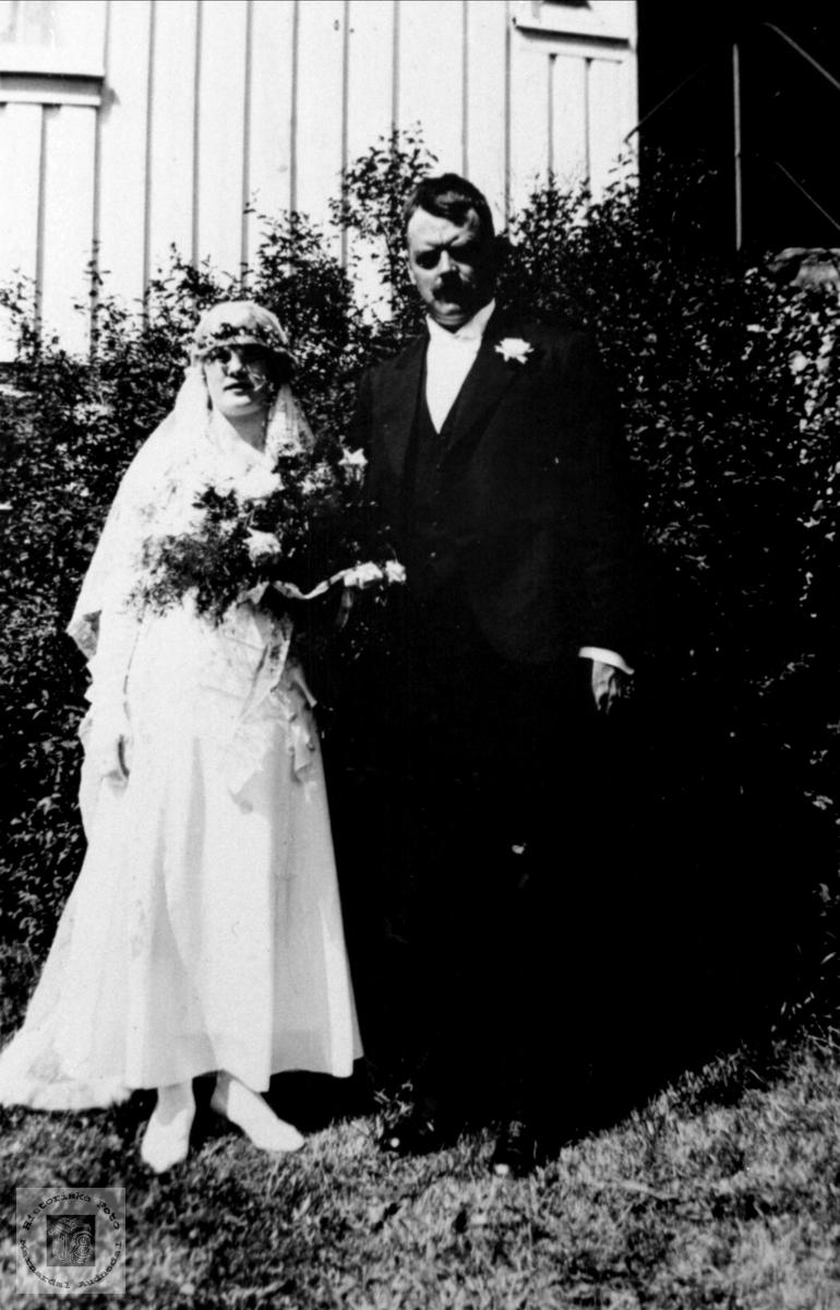 Brudebilde av Randi og Olav Usland
