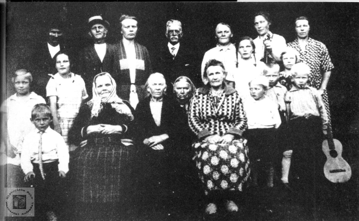 Familiegruppe på Kimestad, Søgne