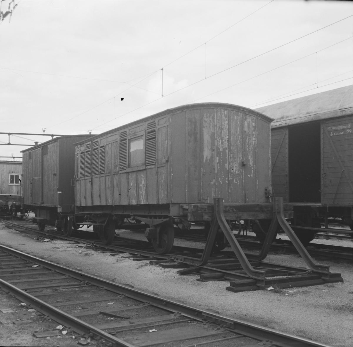 Liktransportvogn Zu nr. 16592. Opprinnelig karet nr. 525 fra Randsfjordbanen.