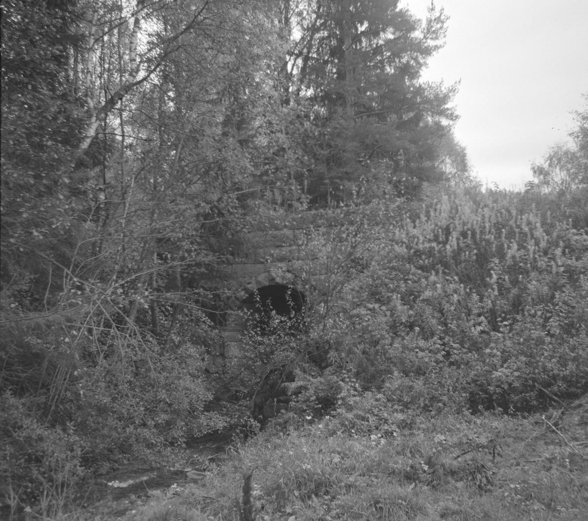 Gammelt steinhvelv ved Kopstad stoppested på nedlagte Tønsberg-Eidsfossbanen.