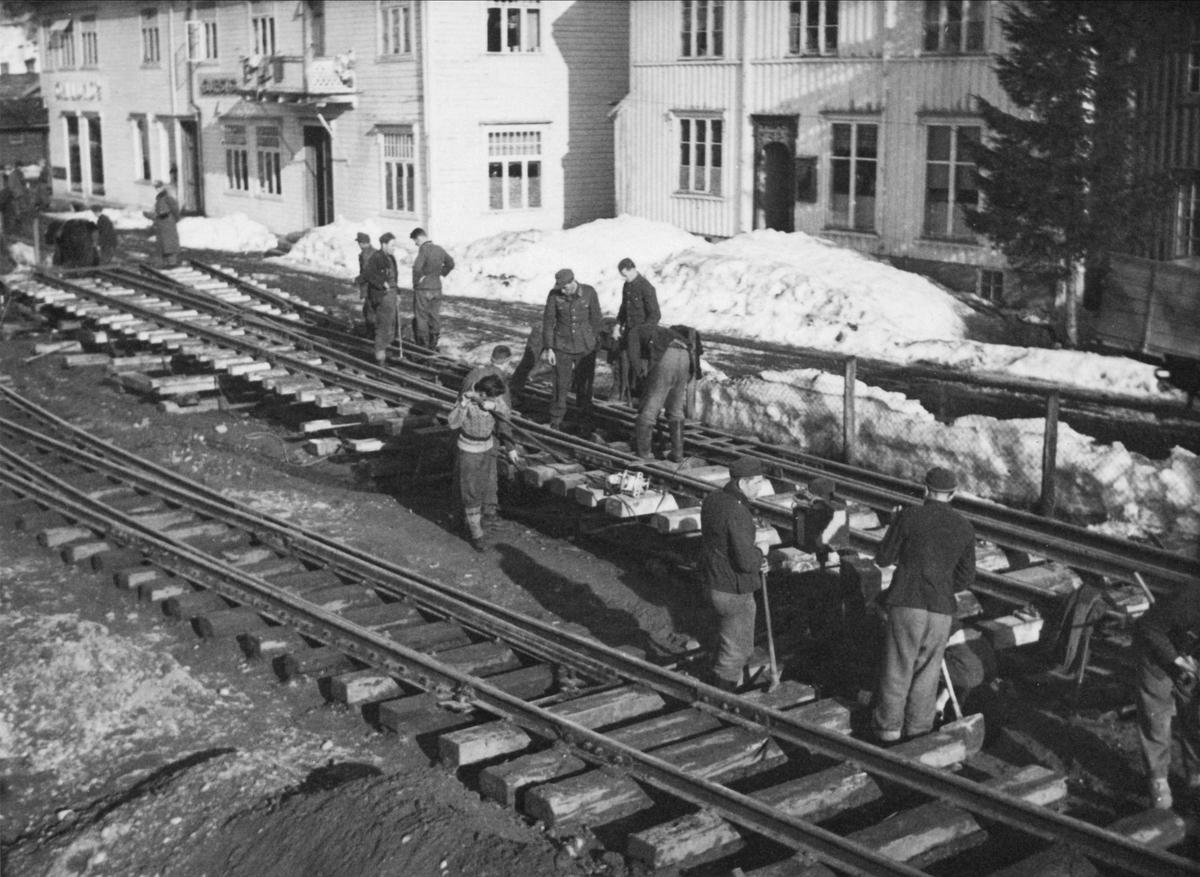 Sammenbinding av en tosporsveksel på Svorkmo