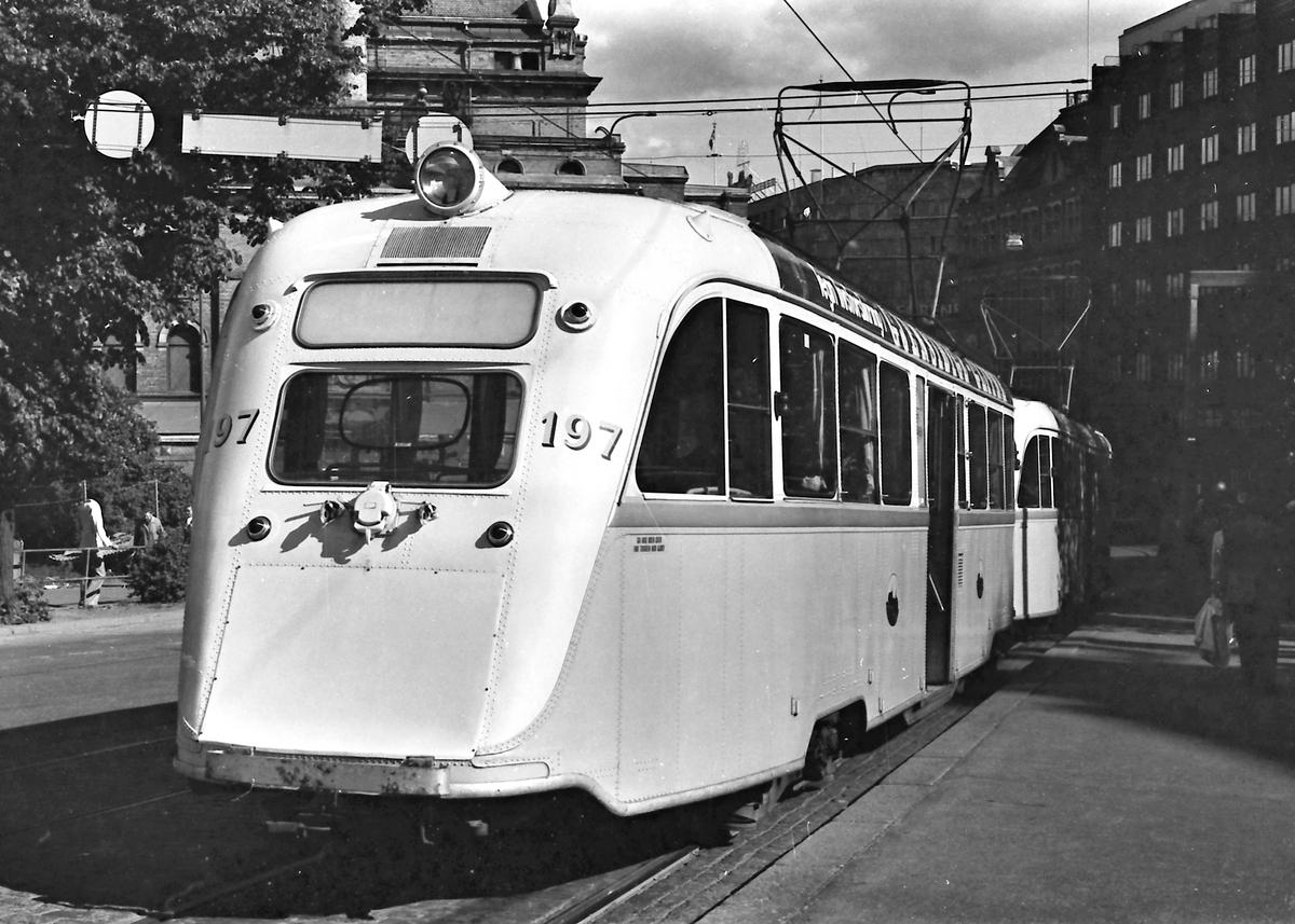 Oslo Sporveier. Bakenden av Gullfisk B 197.