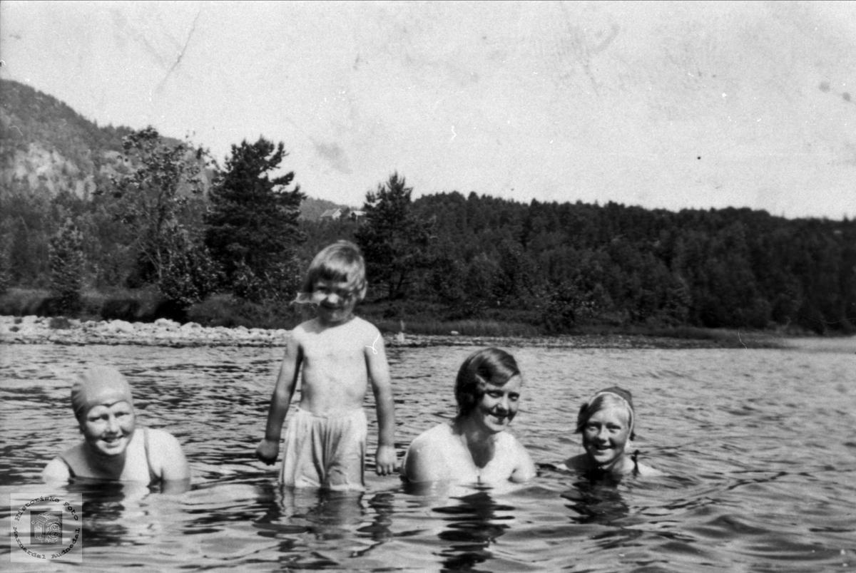 Bading i Mindrebøvannet