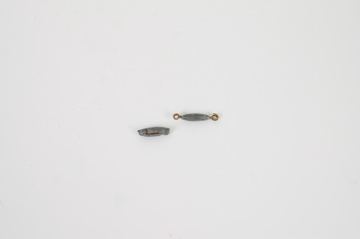 Form: A,B)spiss-ovale, C) 5 stk. m. ulik form. C) B 1,0 L 4,0