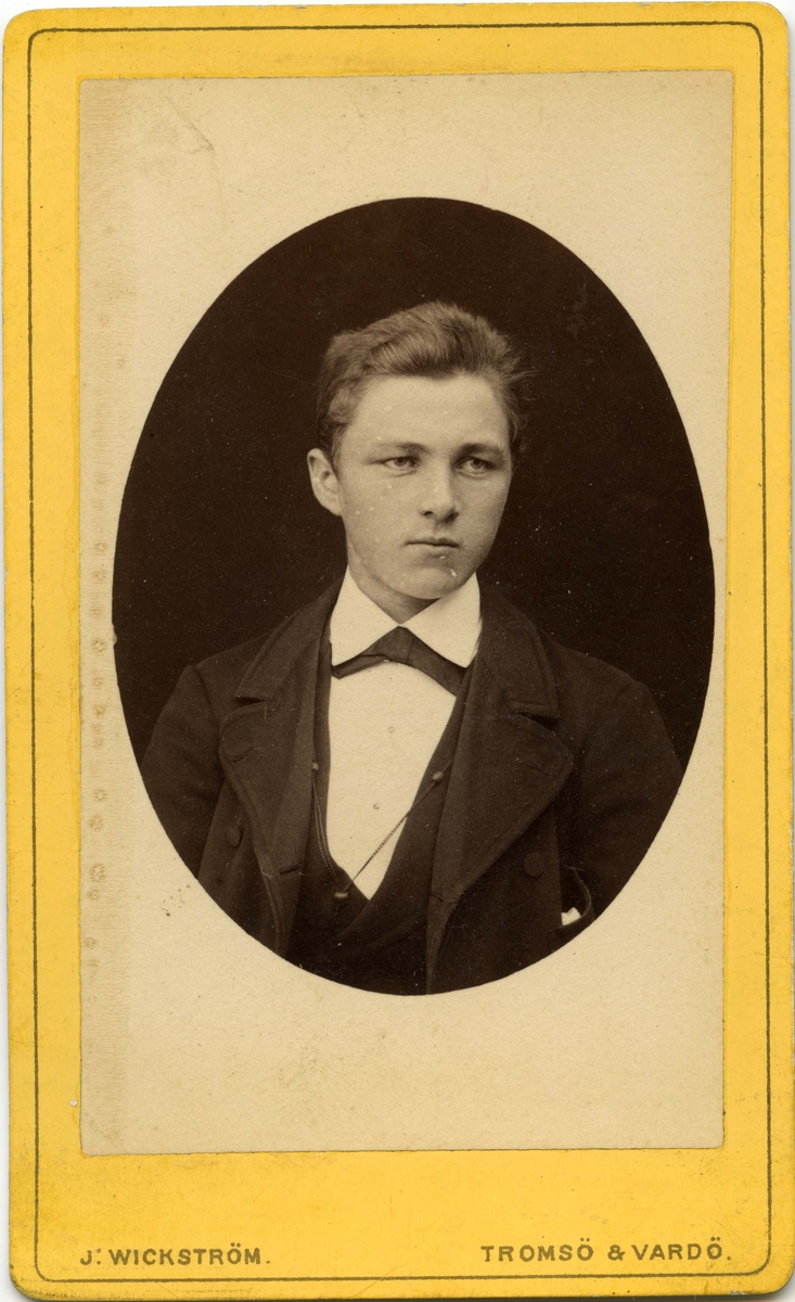 Ung mann, trolig Hans Bersvendsen.