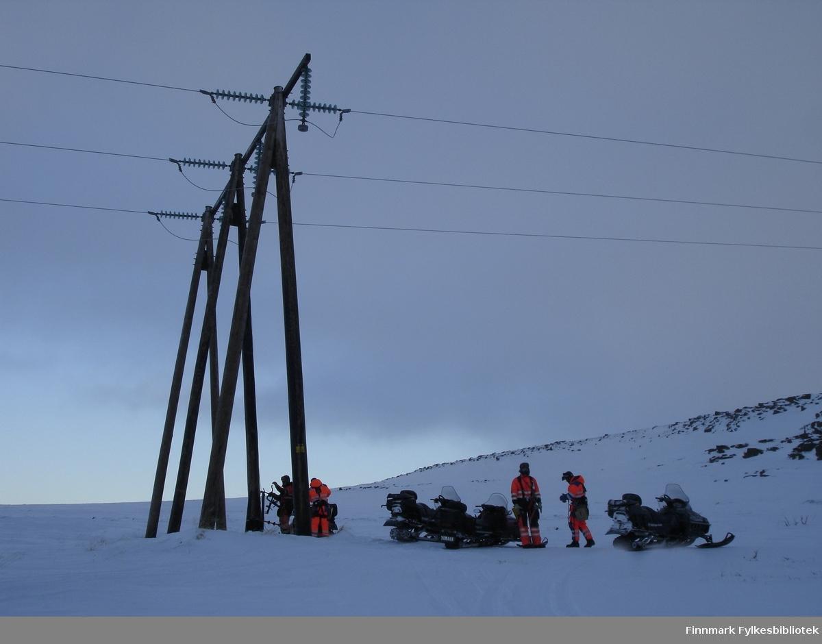 Toppbefaring, jording 66 kV linjen mellom Vadsø - Vardø.