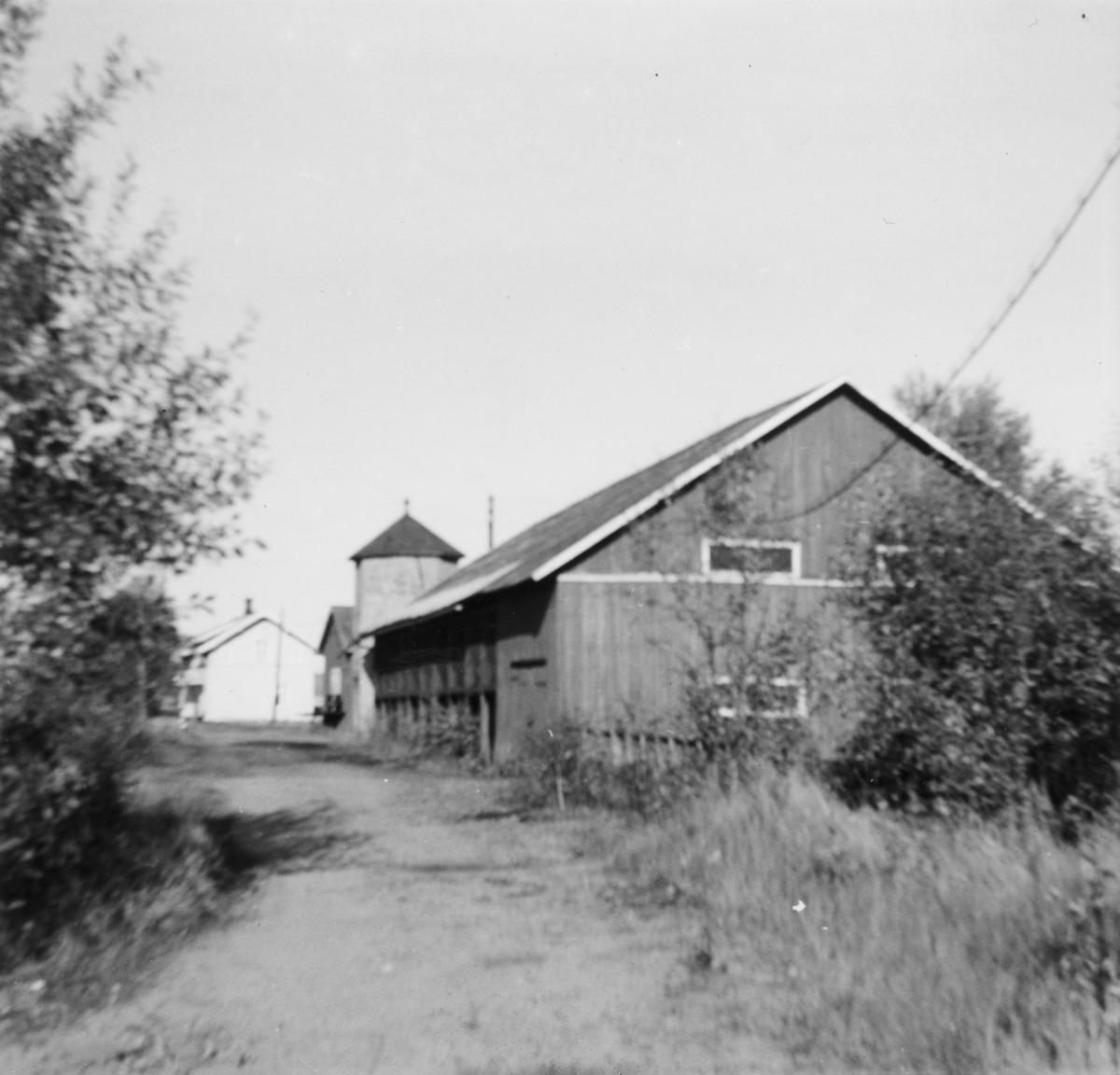 Vanntårn og kullskur på Bjørkelangen stasjon.