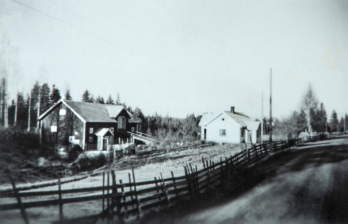 Skjellet (Skillet), småbruk, Kolomoen 535.  2337 Tangen, gårdsnr. 322 bruksnr. 4. Tidspunkt for fotografering, muligens tidlig på 1960-tallet.