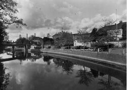 Nybrogatan mot norr från Nybron år 1931.