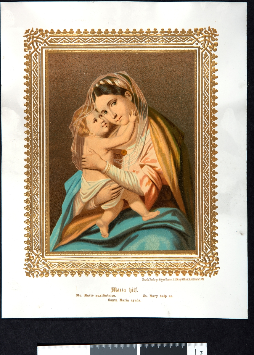 Maria med barn på armen