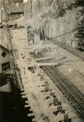 Fra byggingen ved Østerklev bru 1930