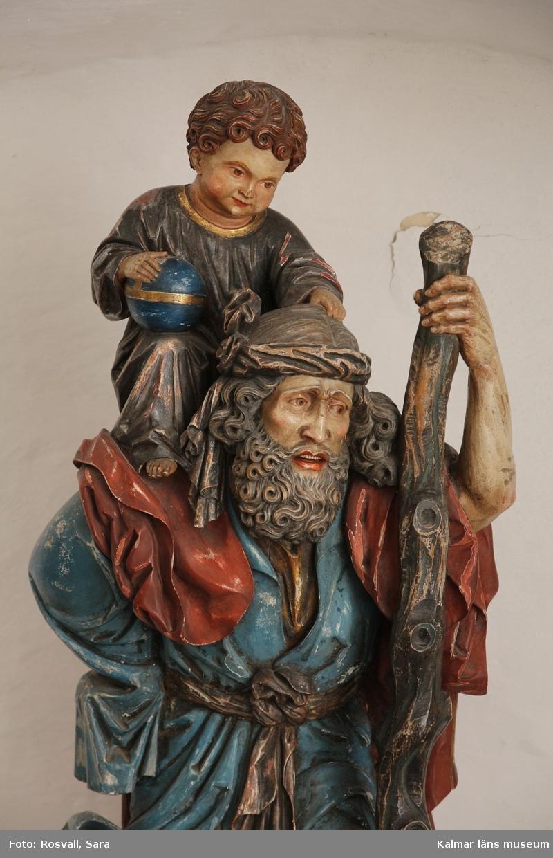 Den helige Kristoffer, Sankt Kristoffer, enligt legenden bärande på Jesusbarnet.