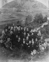 Landskap frå Eikemo i Åkerfjorden, juli 1889.