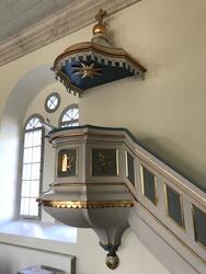 Bankeryds kyrka, Jönköpings kommun. Predikstol tillverkad 18