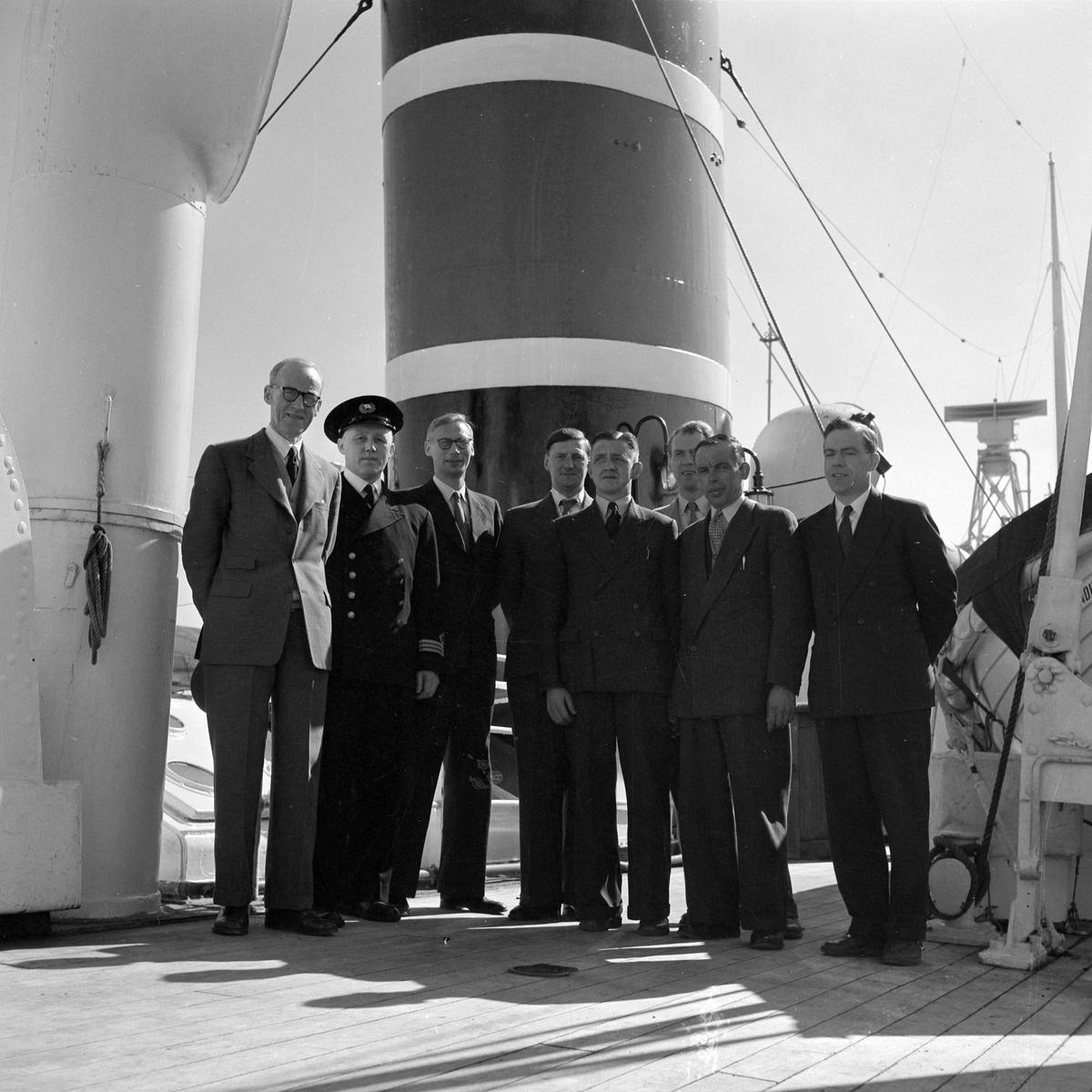 Engelsk, skotsk, irsk fiskeridelegasjon ombord i M/S Harald Jarl