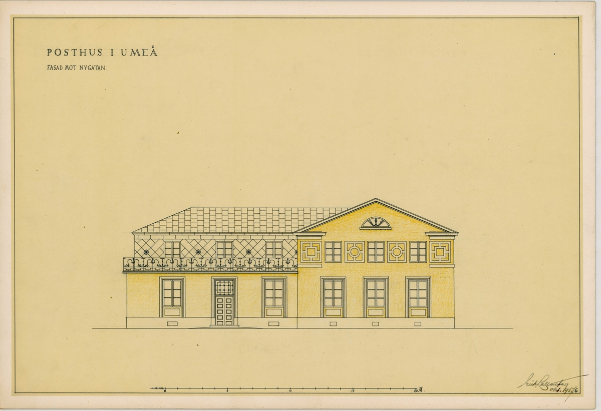 Posthuset Umeå.  Korsningen Nygatan Rådhusesplanaden.