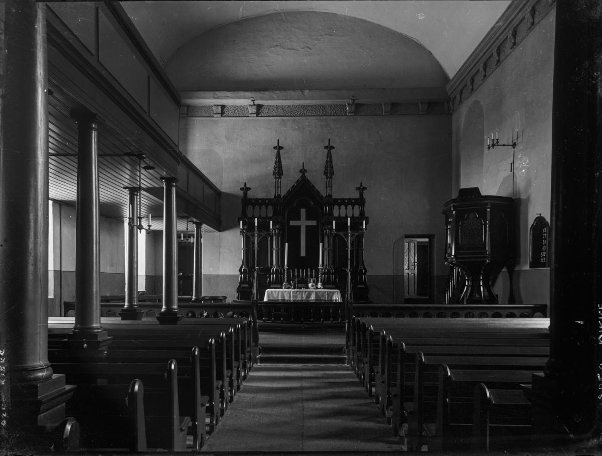 Interiør fra ukjent kirke.