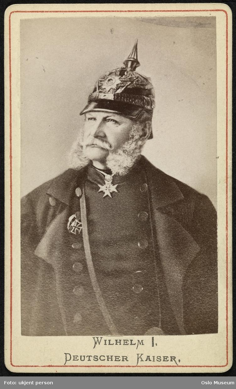 portrett, mann, keiser, kinnskjegg, uniform, hjelm, brystbilde