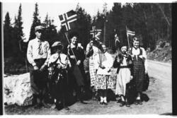 17. mai. Frå venstre: Einar Kinnebergbråten, Ivar Kinnebergb