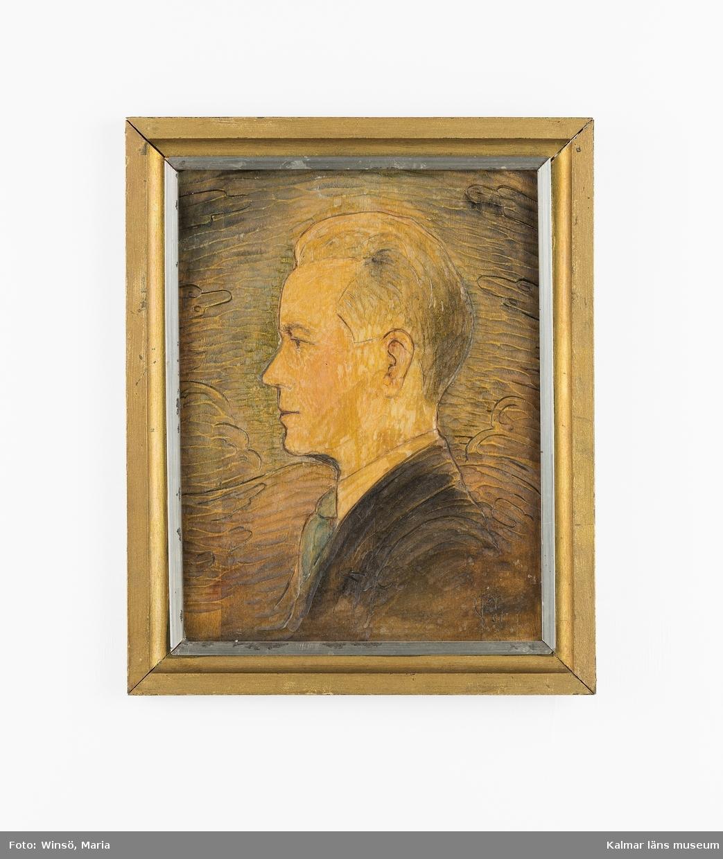 Porträtt av Gustaf Sivgård, från sidan.