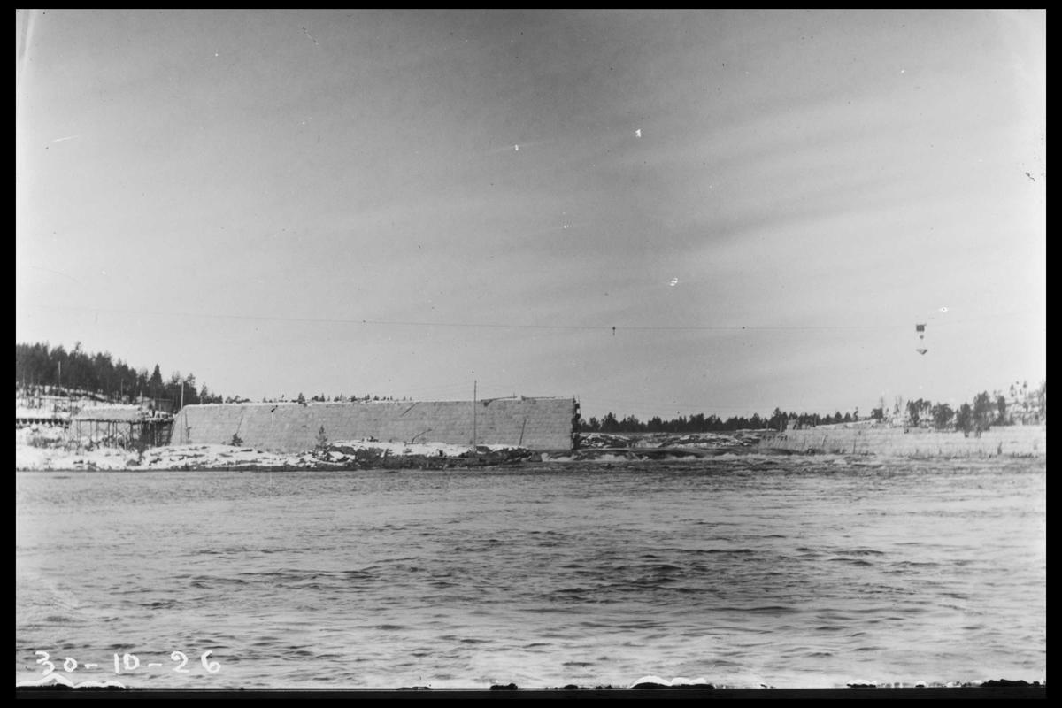 Arendal Fossekompani i begynnelsen av 1900-tallet CD merket 0468, Bilde: 39 Sted: Flaten Beskrivelse: Dammen