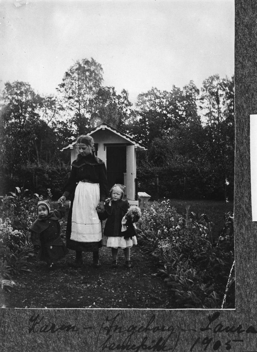 Nordre Belsjø, barn, barnevogn, hage, drakt
