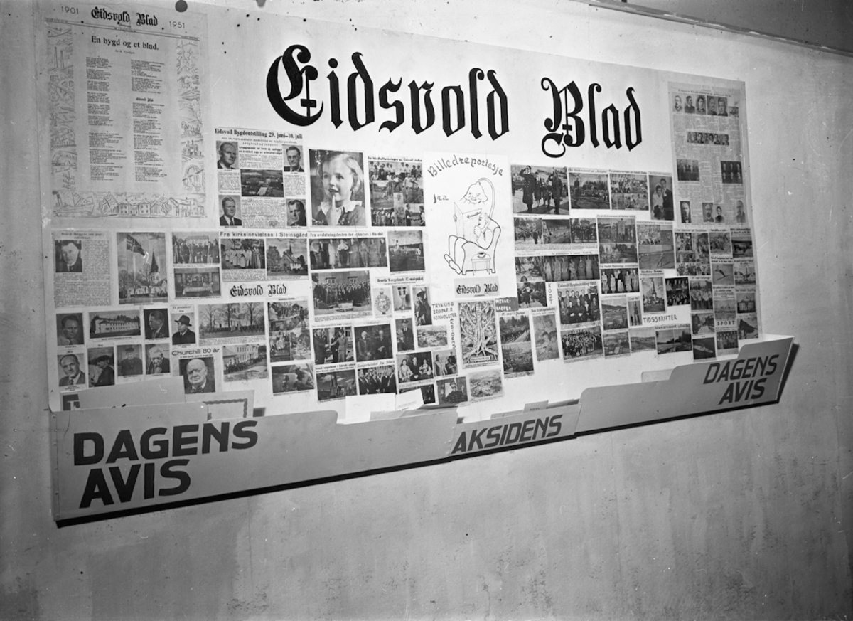 Fra bygdeutstillingen i 1955. HOEL's sykkel & Sportsforretning.