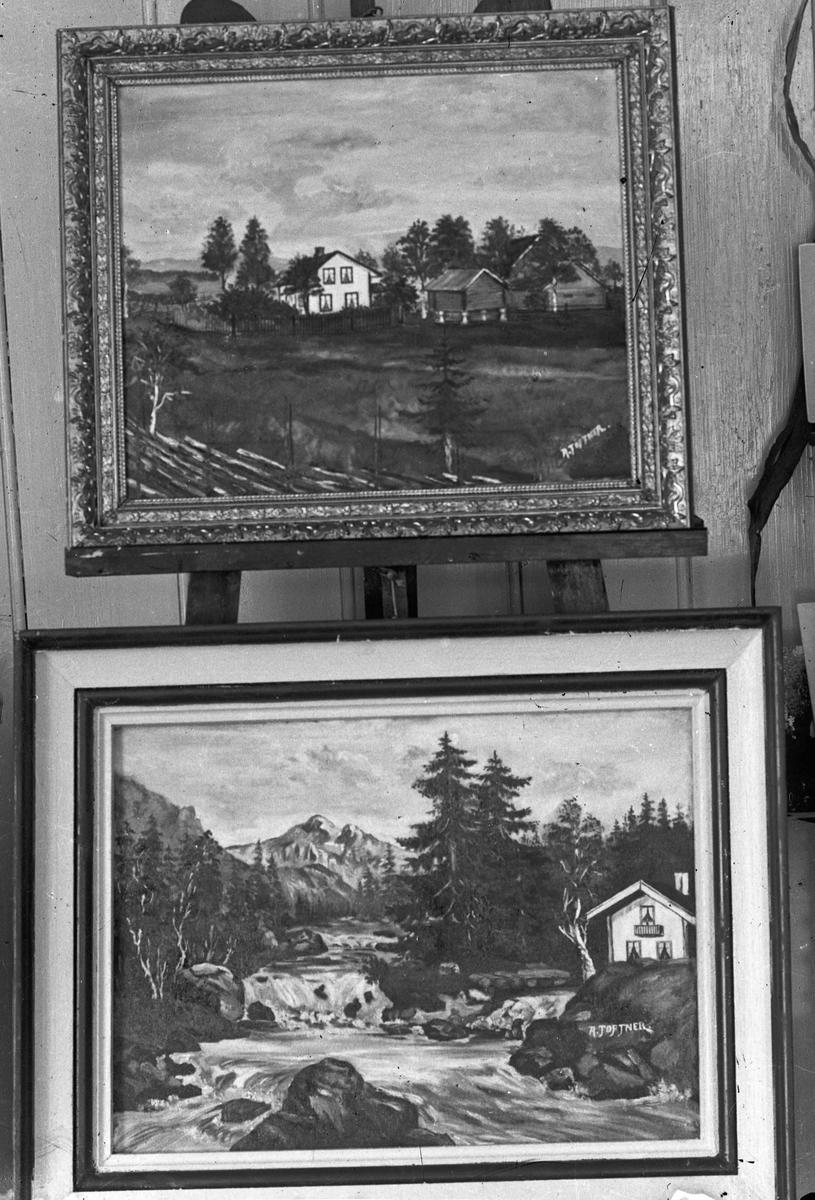 2 malerier av A. Toftner