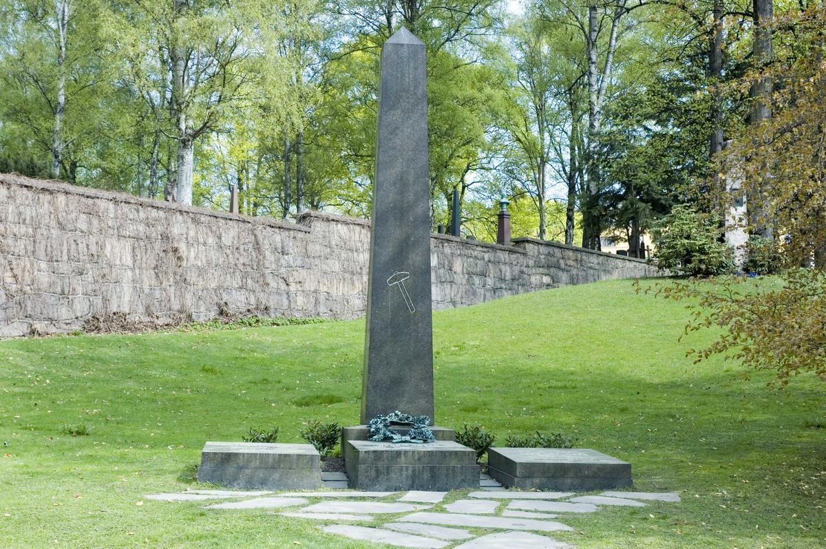 Henrik Ibsens gravmonument på Vår Frelses gravlund i Oslo.