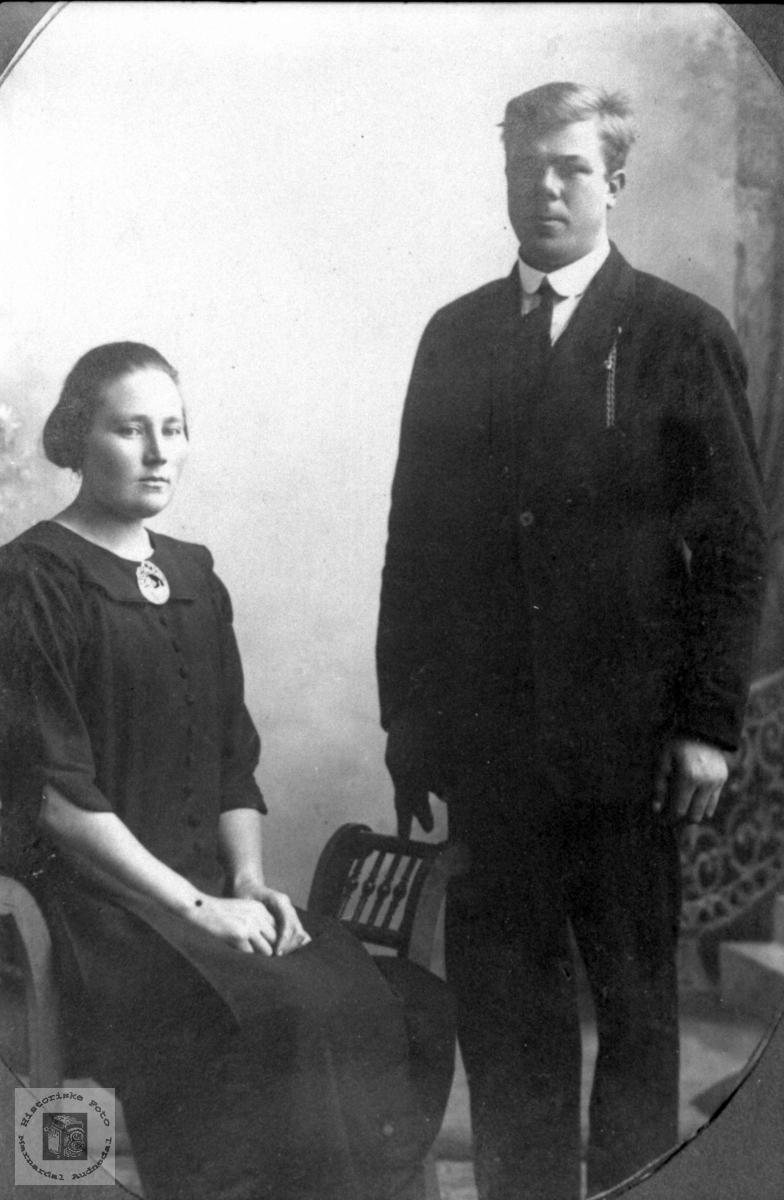 Ekteparet Anna og Torje Haraldstad. Bjelland.