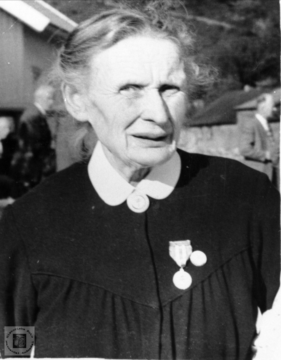 Portrett av Olevine Nome, Øyslebø.