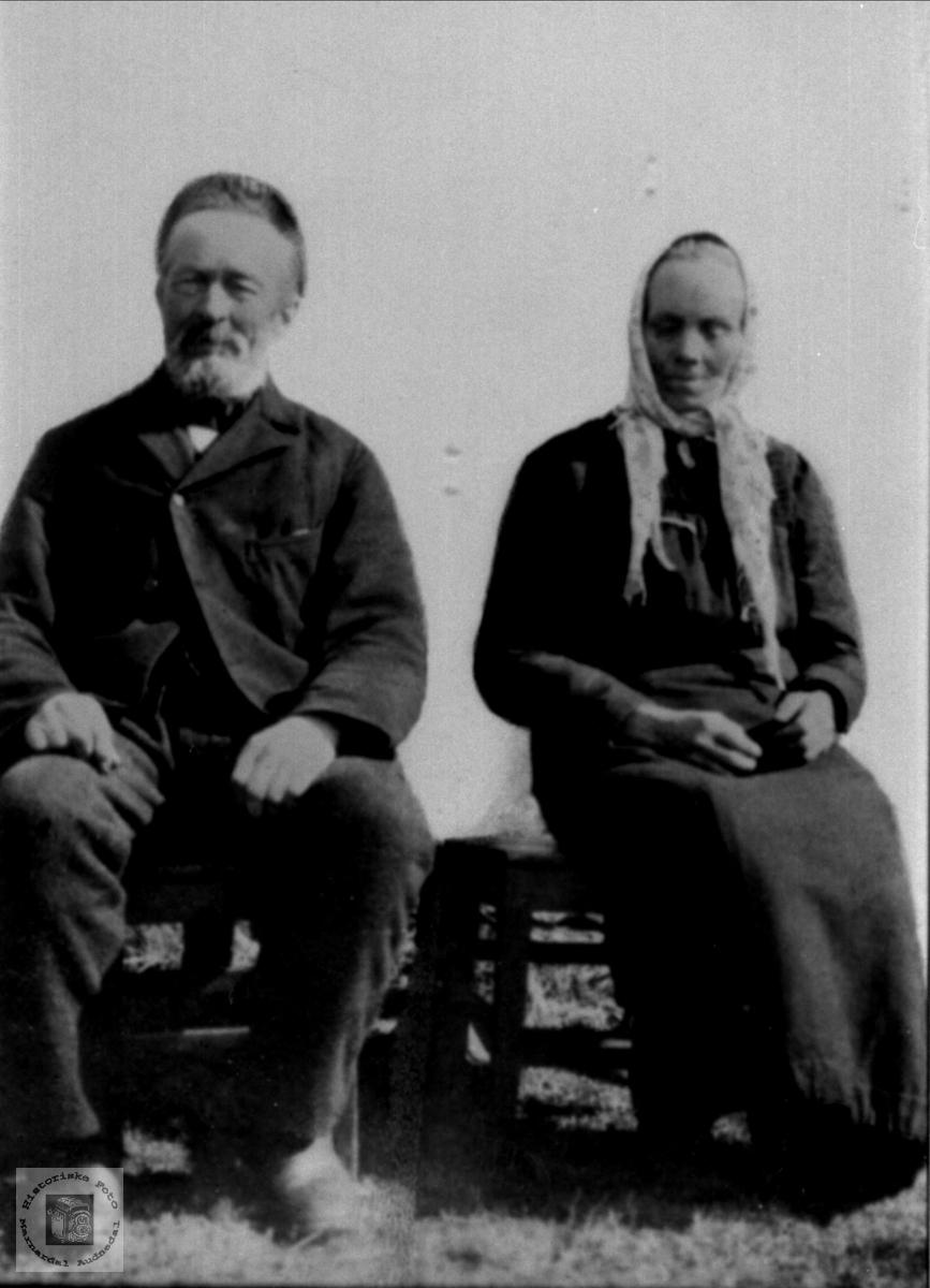 Portrett av ektparet Reinert og Anna Birkeland, Laudal.