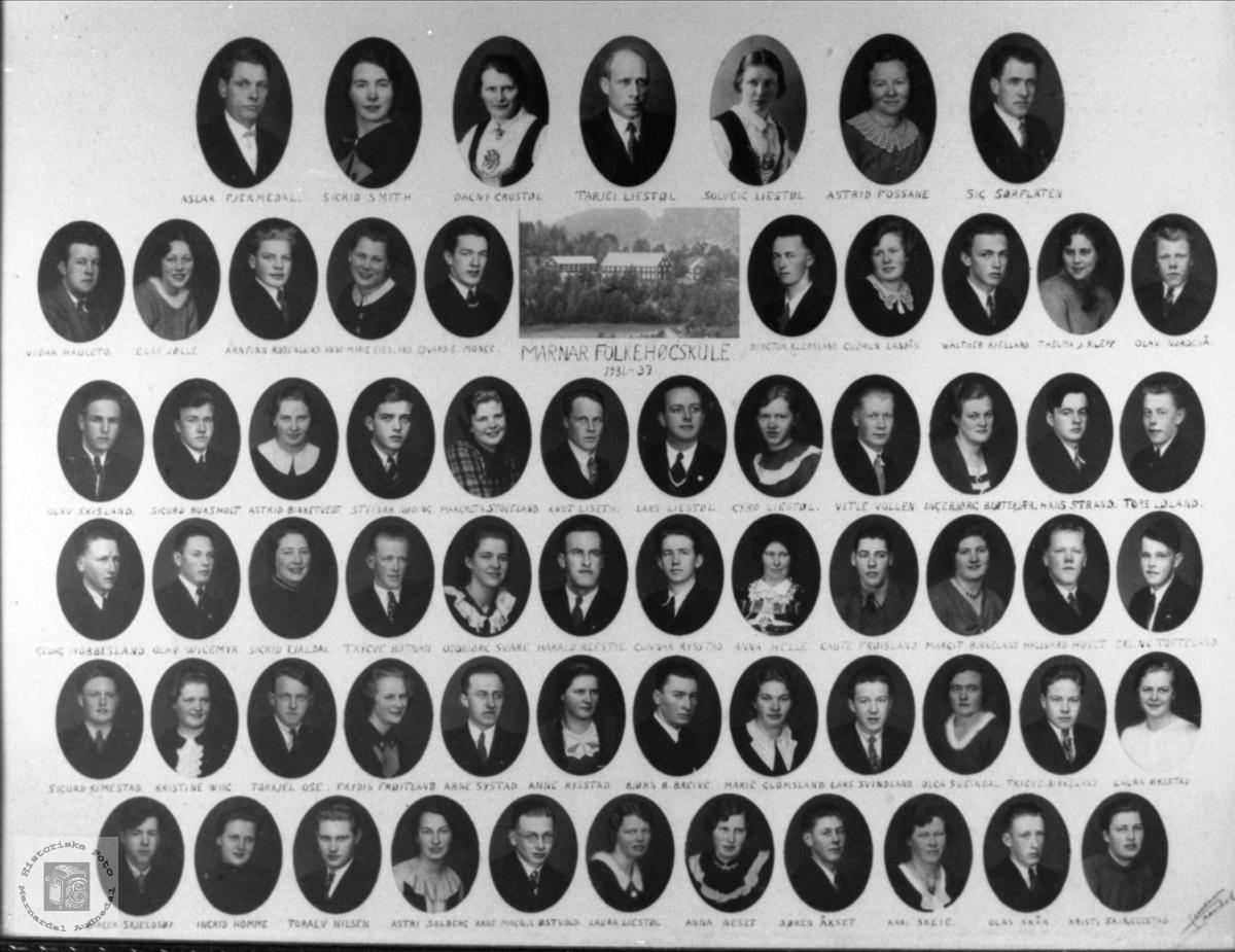 Marnar Folkehøgskole 1936-1937