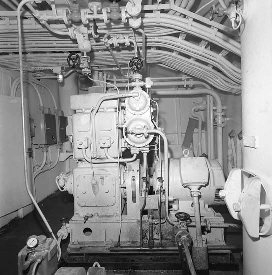 Bilder från maskinutrymmen på fartyg 116-119, troligen från 116 S/S Vorkuta PT 57.