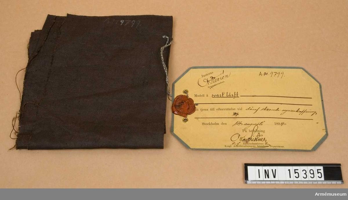 Grupp C I. Modellappen daterad 14/8 194 och underskriven av Otto Kistner, assistent och justerad av A Thorén.